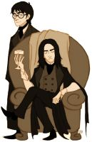 Severus and Harry by Kriegswaffle