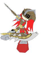 Gawain Knuckles - Flat Colours by AlphaDarkFox