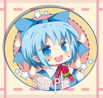 ready to order Cirno Phone strap by miacis83