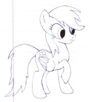 Raindow Dash quick drawing by Annihilator176