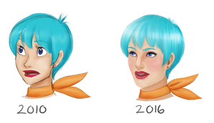 Bulma: Then and Now by LadyFoxill