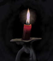 Red Candle by MissSweeda