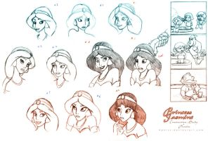 Jasmine Sketches by Aphius