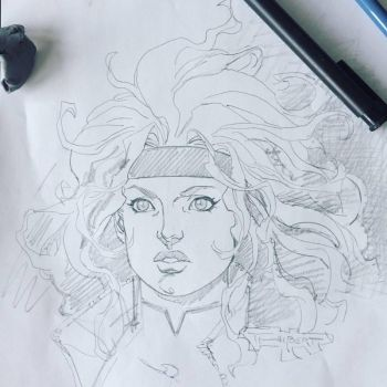 WIP- Rogue Commission for Comic Con Revolution by aethibert
