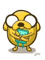 jake and bmo by grizlyjerr