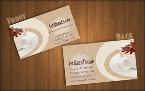 Redesigned Ferdinand's cafe business card by KungfuHamster