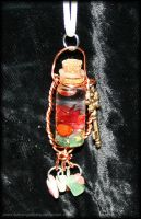 Faerie Dreams Vial Necklace by fallnangeltears