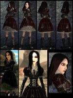 Alice 2_steamdress red-death-skin by Cerberus071984