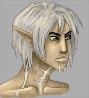 Fenris portrait by Moferiah