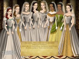 The Disney Princesses and the Duchess of Cambridge by nickelbackloverxoxox