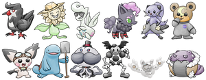 Butts Pokemon by TariToons