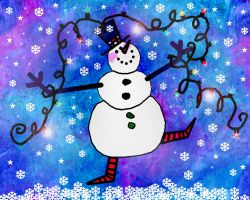 Dancing Snowman by PridesCrossing
