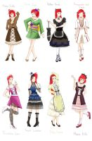 A Set of 8 Dresses by Mig515