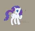 Rarity Flat Colours by TenshiHoshino
