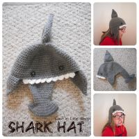 Shark Hat by the-carolyn-michelle