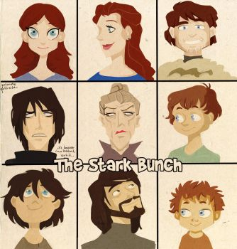 asoiaf - the stark bunch by spoonybards