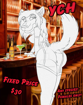 How May I Be Of Service? (YCH Open!) by RainbowStarLioness