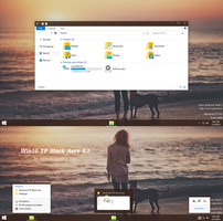 Windows10 TP Black Aero Theme Windows 8.1 by cu88