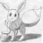 Eevee shading+pose practice. by Omegadragon4