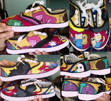 Adventure time shoes (finished) by MyClutteredCave