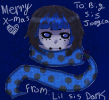 Merry Early X-mas Big Sis Jongie by DarknedStar