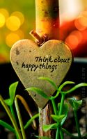 Think about happy things by Lambii