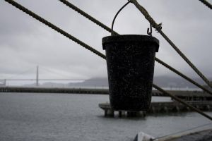Hanging bucket by JaniellMarie