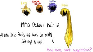 MMD default hair pack 2 by Vocaloid98