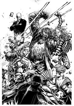 INKS OVER MAD FINCH. by darquem