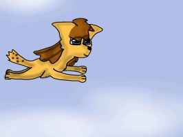 Fly doggy by MakiTheArtDoggy