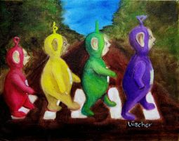 Teletubbies Abbey Road by luscher
