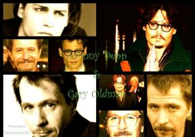 Johnny Depp and Gary Oldman collage by Depporgeus