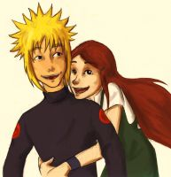 Minato and Kushina by appleshiner