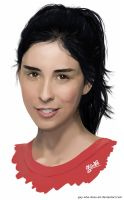 Sarah Silverman by guy-who-does-art