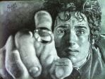 Frodo Baggins (Lord Of The Rings) - 2014 - Drawing by Stevegillettart