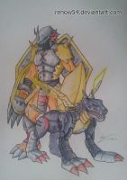 Wargreymon and Metalgarurumon by Renow54