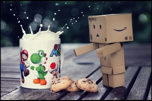 Danbo and Cookies by Dj-TheKiller
