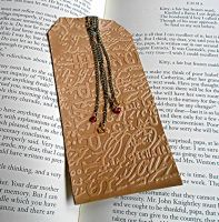 French Leather Bookmark by random-wish