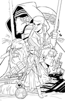 Force Awakens Inks by DerekLaufman