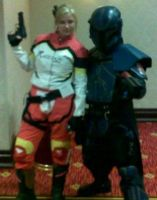 Elza with Mandalorian by sewingbikergirl