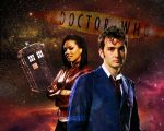 Doctor Who Wallpaper - 10th Doctor and Martha by WERA1166