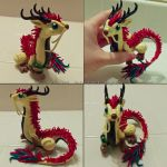 Mellow Yellow Eastern Dragon Sculpt by Ember-Eyes