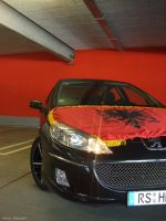 My Peugeot with Albanian Flag by tetova21