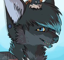Blue Doge: Commission by Woods-Of-Lynn