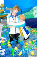 Cosplay  FREE! Nagisa Makoto Love hug by Smallkaori