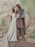 Aragorn and Arwen by Lamorien