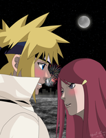 Minato and Kushina: That Stare by yusui-hime