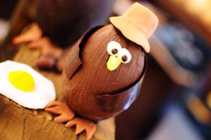 Chocolate Egg Chicken Egg by aperture24