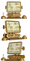 Steampunk Computer PNG Stock by Roy3D