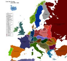 Alternate Cold War Europe Map by Muzik-Maniac